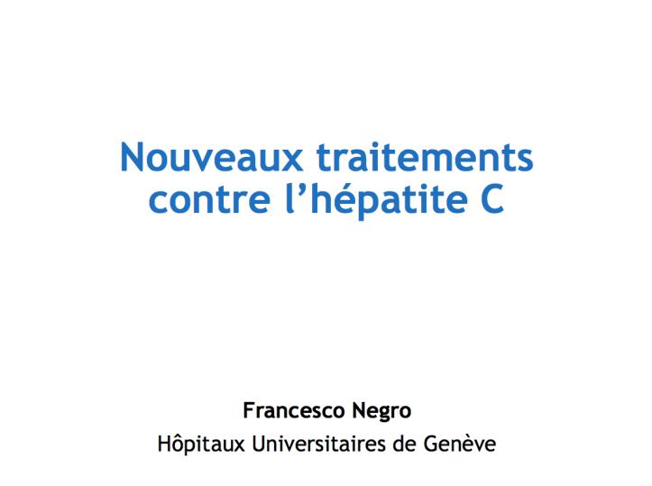 Nouveaux traitement pour l'hépatite C et insuffisance ...